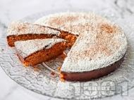 Рецепта Здравословна морковена торта / сладкиш без брашно с бадеми, кокосова захар и канела